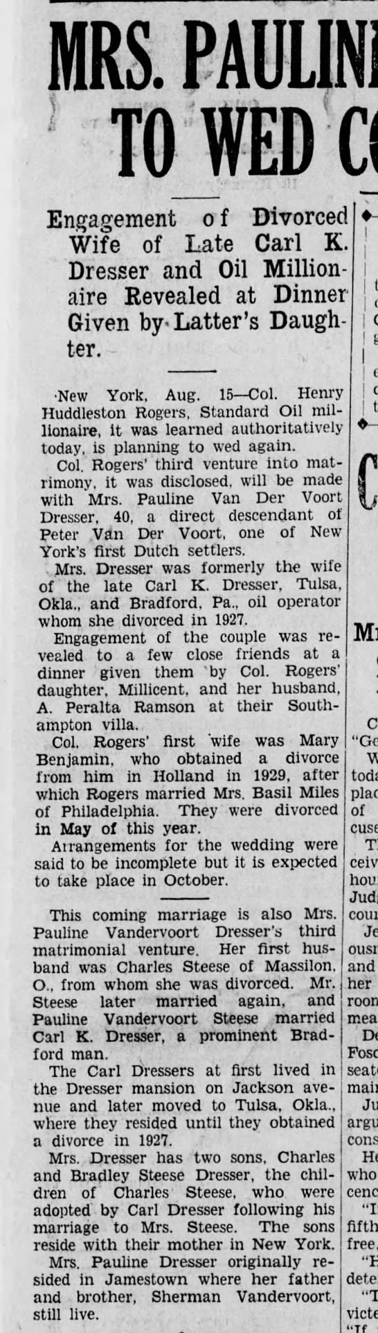 Pauline Dresser_marriage history_1933 -