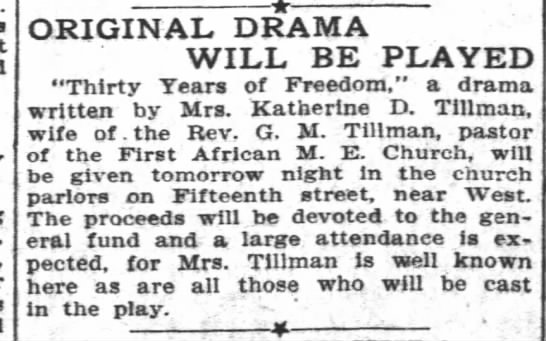 Thirty Years of Freedom by Katherine D. Tillman (1908) -