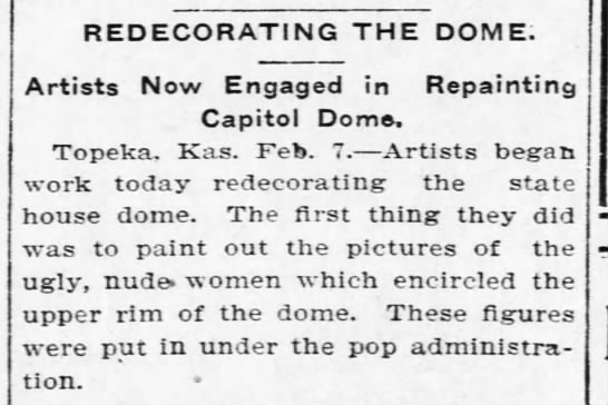 Redecorating the dome -