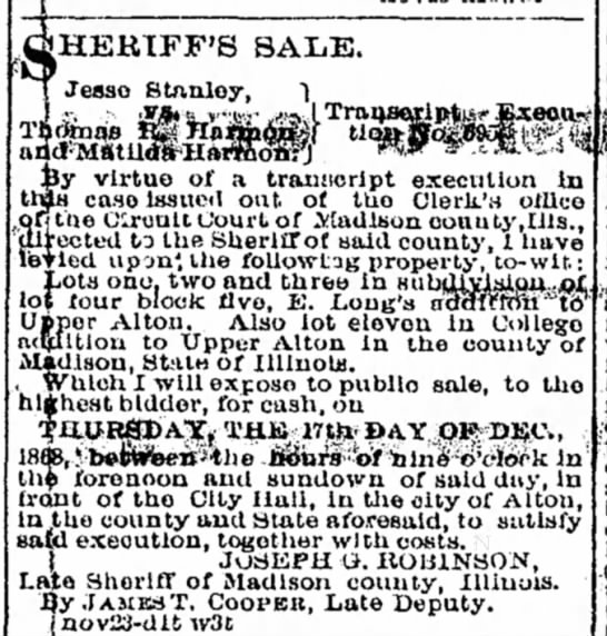Sheriff's Sale -