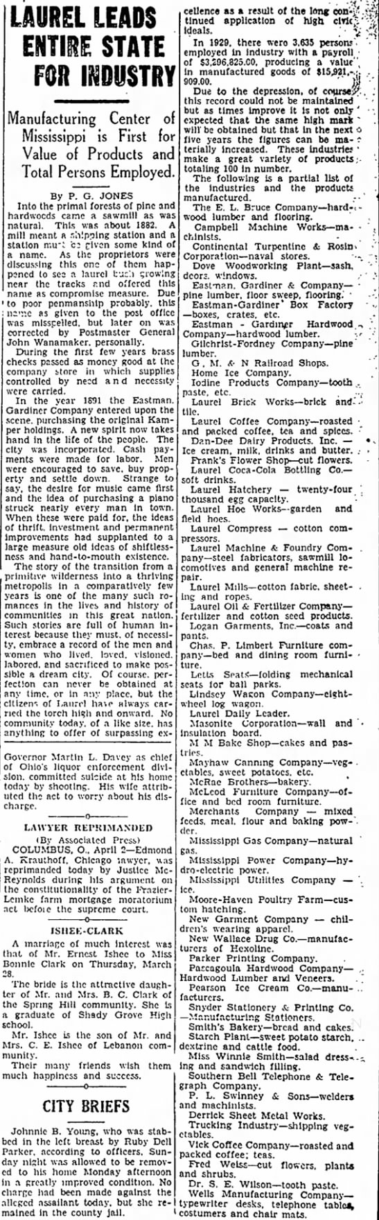 lul leads st. industry, 2 april 1935 p. 11, leader call -