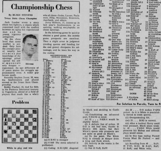Championship Chess by Blake Stevens -