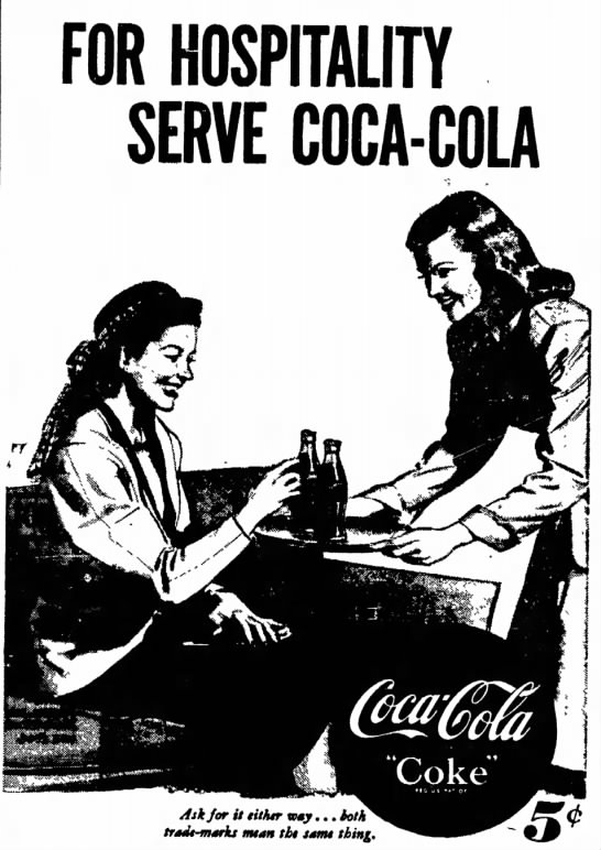 1948 Coca-Cola, The Hospitality Drink -