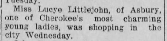 Social news: Shopping, 1904 -