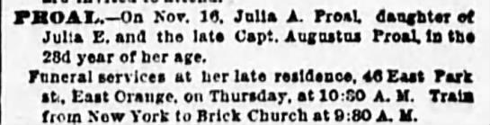 PROAL, Julia A. 1891.11.16 Death -