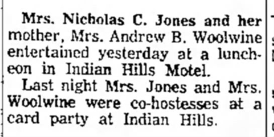 Nicolas C Jones Andrew B Woolwine - Newspapers com