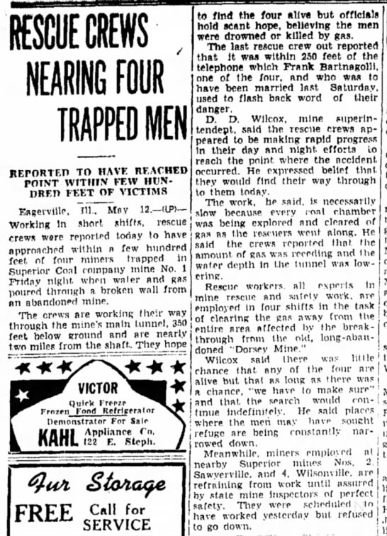 Miners Rescued 5/12/42 -