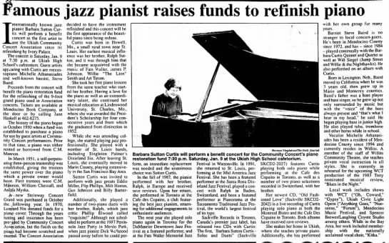 Famous Jazz Pianist Raises Funds to Refinish Piano -