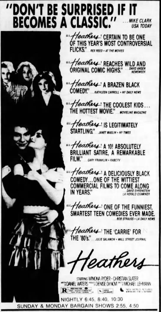 Generation X - Cultural History - Movies - Heathers -