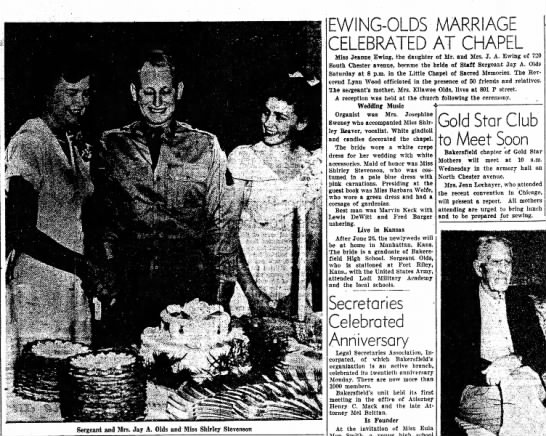 Ewing - Olds Marriage -
