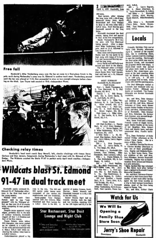 April 8, 1972 St Edmonds meet -