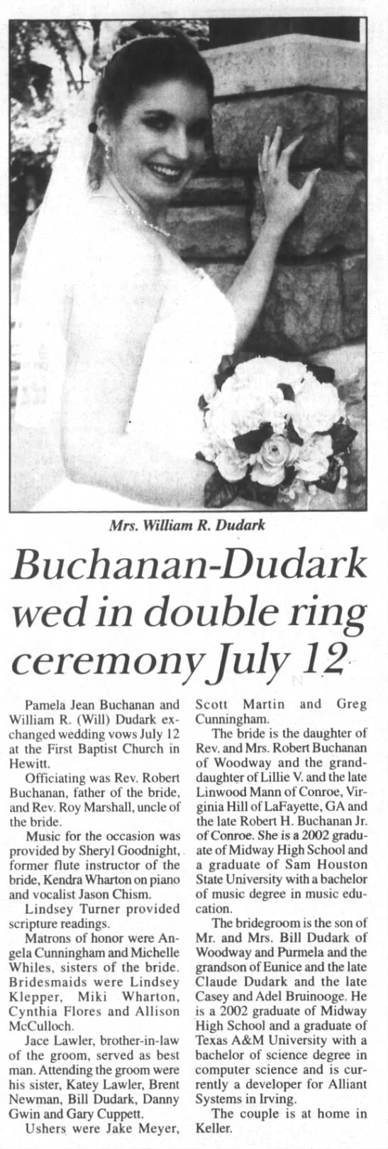 Buchanan-Dudark Wedding -