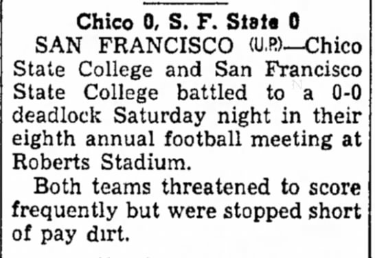 Chico 0 SF State 0 -