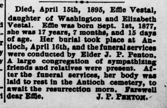 vestal, effie the macon republican 19 apr 1895 fri page 6 -