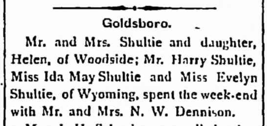 Shulties in Woodside and Wyoming.   Not sure if they are related. -