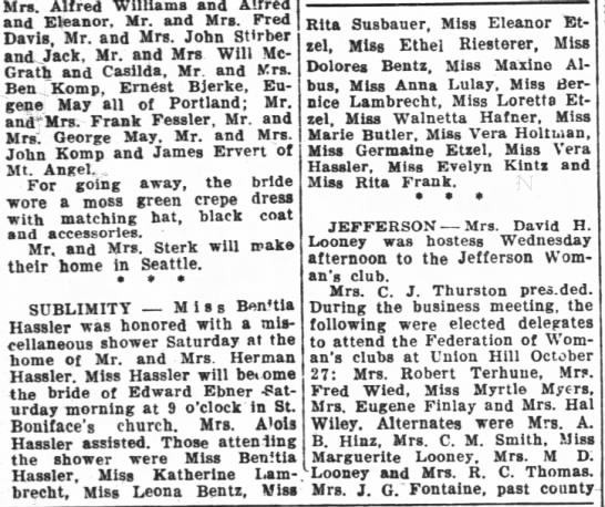 Walneta Hafner - Mrs. Alfred Williama and Alfred and Eleanor,...