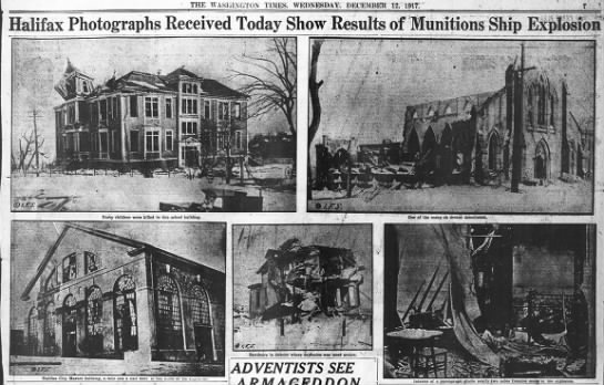 Photos of damage from Halifax explosion -