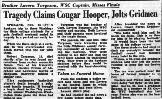 Tragedy Claims Cougar Hooper -