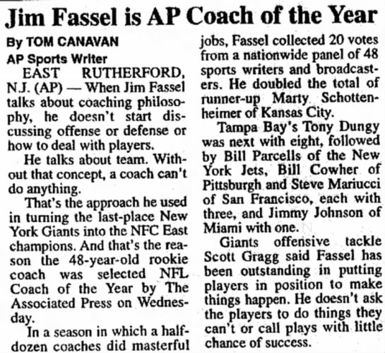 Jim Fassel is AP Coach of the Year -
