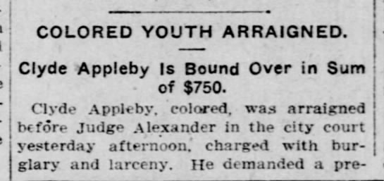 Clyde Appleby - arraigned -