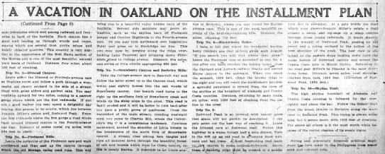 A Vacation in Oakland on the Installment Plan, part 2 Harold French TO BLOG -