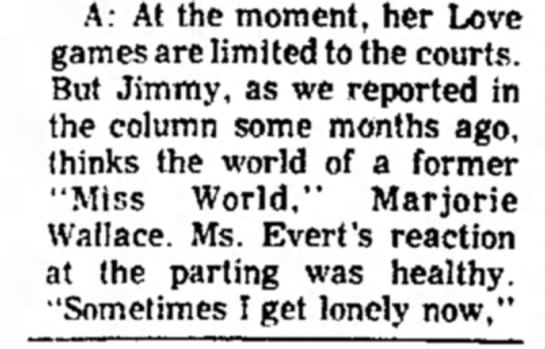 16_December_1976_Clovis_News_Journal_Clovis, New Mexico - A: At the moment, her Love games are limited to...