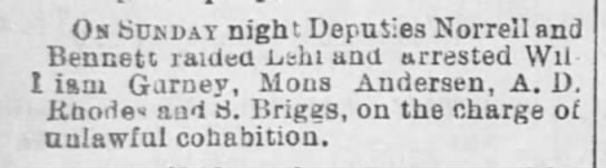 Local Briefs - The Salt Lake Herald 27 Dec 1888 -
