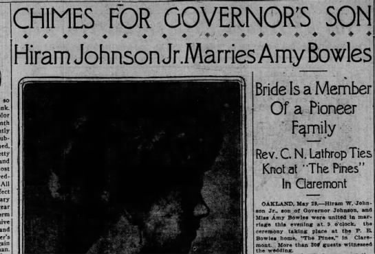 Wedding at The Pines - May 30, 1912 -