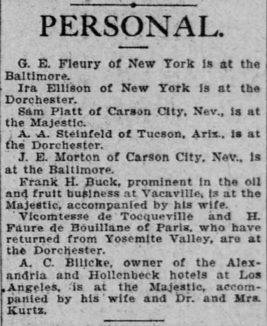 H. Faure de Bouillanne — The San Francisco Call (San Francisco, California) Friday, June 15, 1906 -