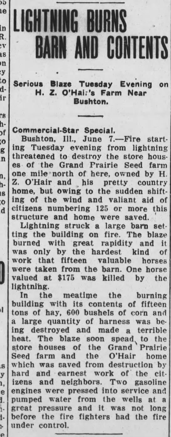 rural fire Jun 8 1911 -