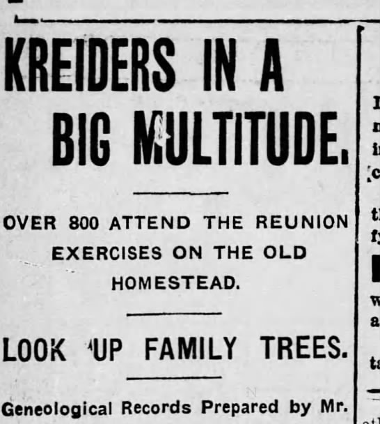 Kreider/Fees connection 1908 -