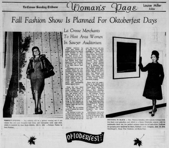 1967 Chamber Retail Committee: Oktoberfest Fashion Show -
