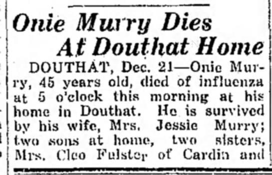 Ottawa cemetery obit..Murray...addl info -