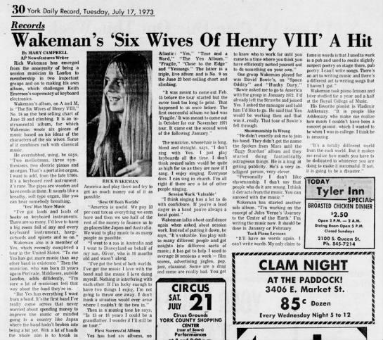 Rick Wakeman 1973 -