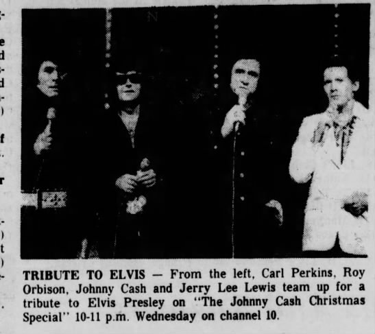 Johnny Cash Christmas Show-tribute to Elvis 1977 -