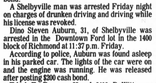 - A Shelbyville man was arrested Friday night on...
