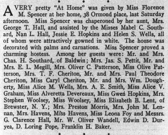 Miss Florence M. Spencer (1906) -