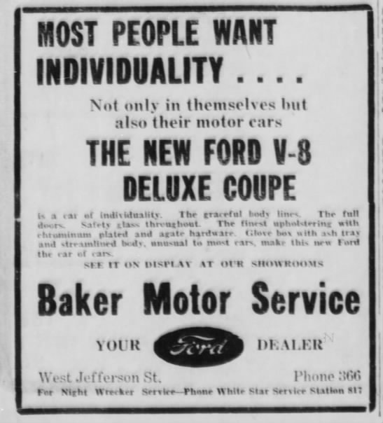'32 Ford Coupe ad -