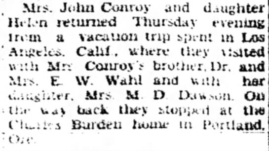 John Conroy Sep 24, 1928 Sterling Daily Gazette -