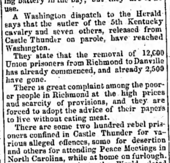 21 Nov 1863 - use. _ .. A Washington dispatch to the Herald...