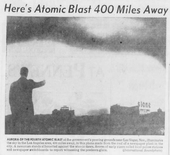 Atomic Bomb Blast in Las Vegas Visible from Los Angeles -