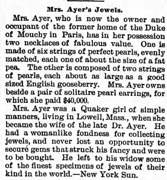 Mrs. Ayer's Jewels -
