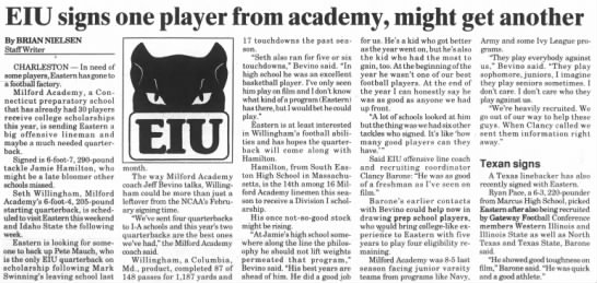 EIU signs one player from academy, might get another -