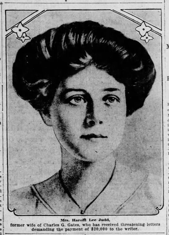 Florence Elizabeth Hopwood Gates Judd--newspaper picture -