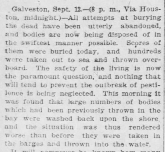 Bodies buried at sea are washed back to shore in Galveston -