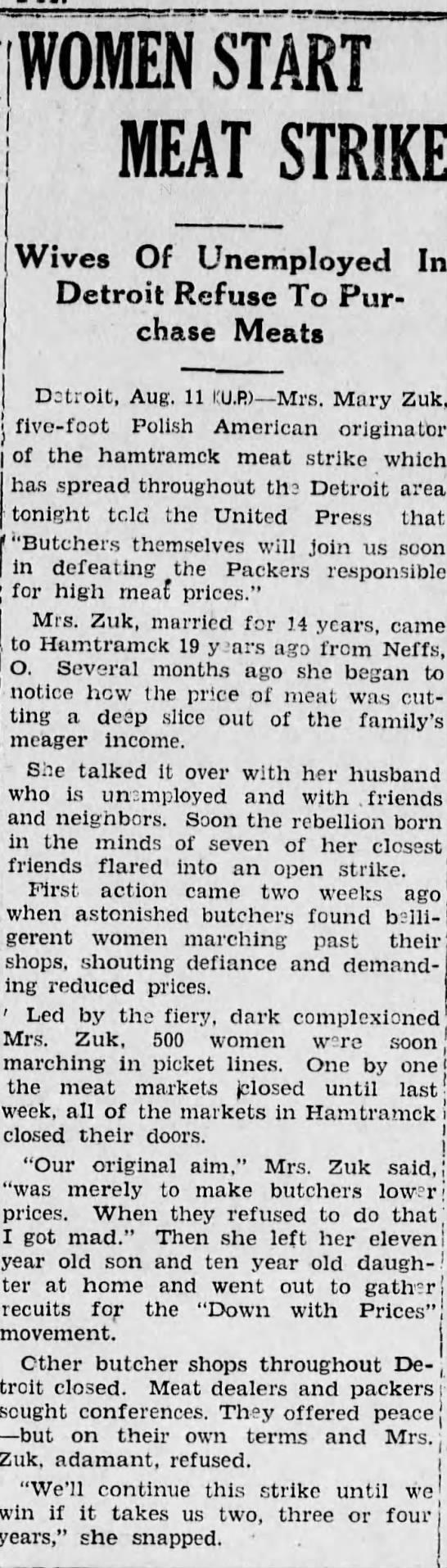 Meat Strike 1935 -