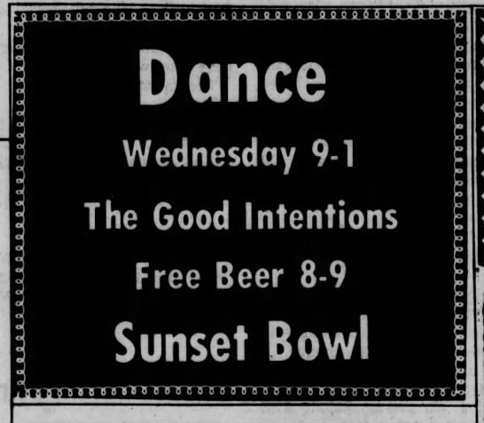 Sunset Bowl-1974-5-1-The Good Intentions -