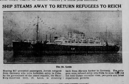Ship Steams Away to Return Refugees to Reich -