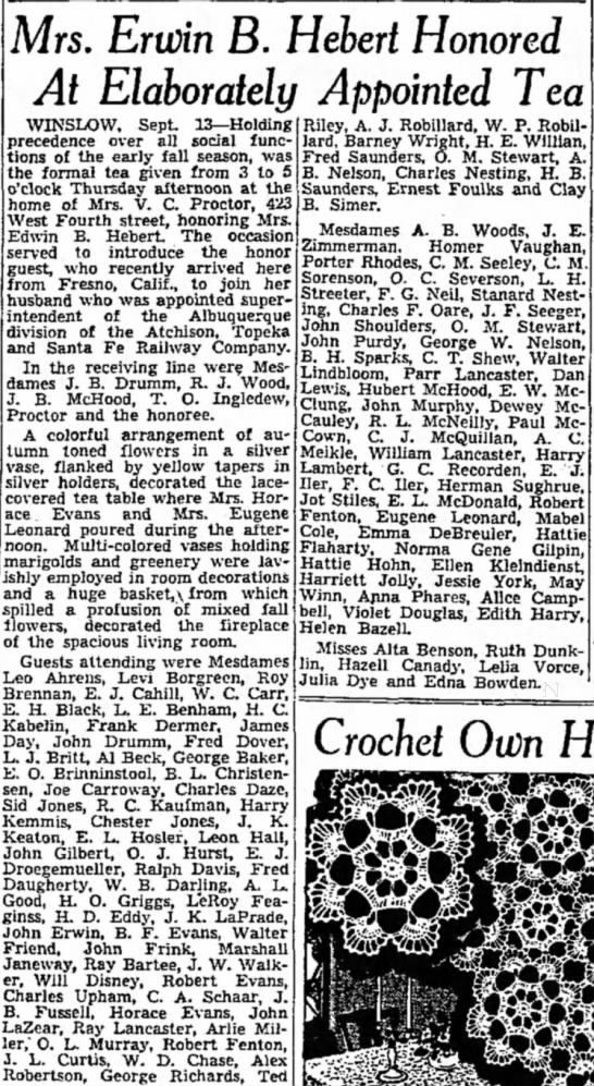 1941 Ray Lancaster - Santa Fe Superintendent Honored -