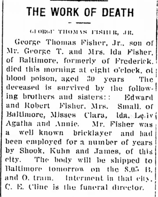 George T Fisher Jr, brother of Edward E Fisher -